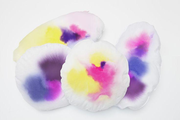 Constance Guisset • water colour cushions
