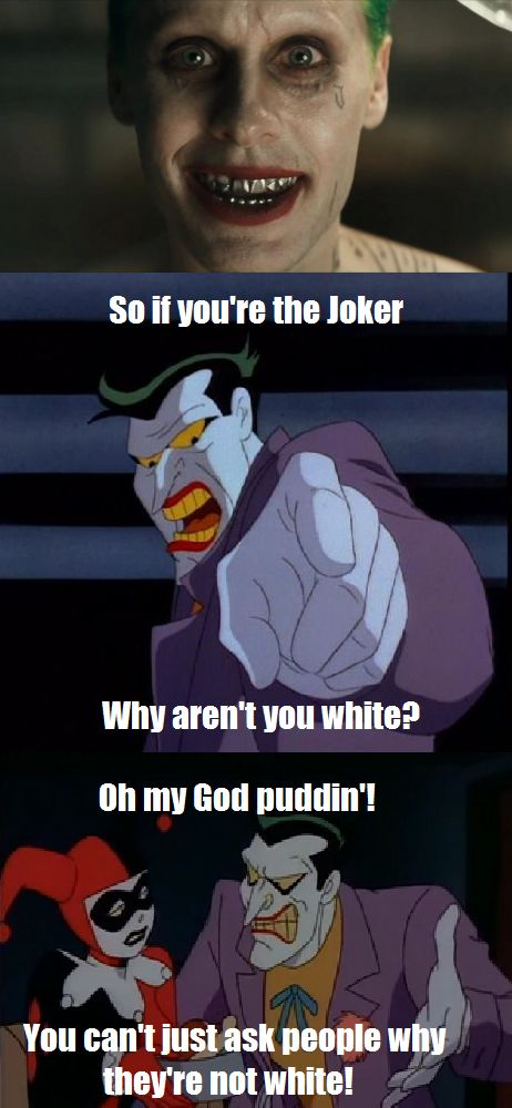 I think Joker might need some sensitivity training.... #Batman #TheJoker http://www.superherostuff.com/characters/batman/batman_merchandise.html