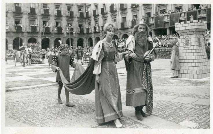 Ajedrez viviente. Vitoria-Gasteiz. 1960