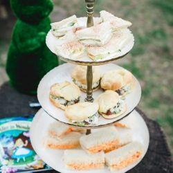 Tea Sandwiches - Cucumber Sandwich + Pimento Cheese Sandwich + Chicken Salas Puff