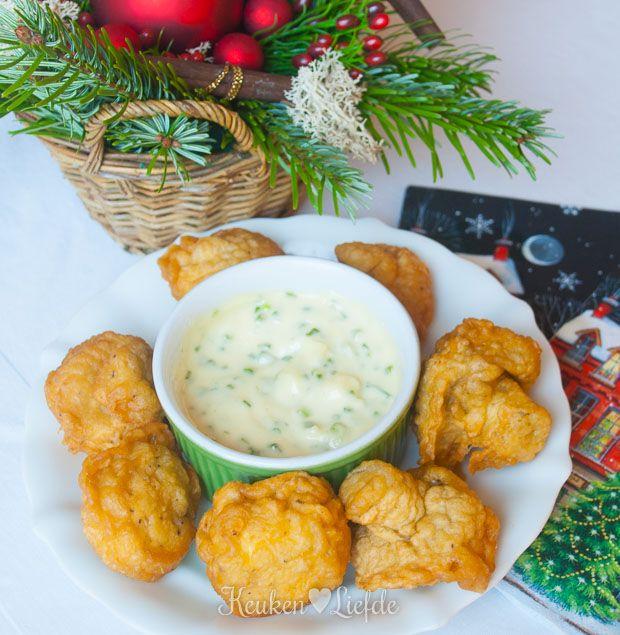 Gefrituurde champignons met knoflooksaus (met video!) - Keuken♥Liefde