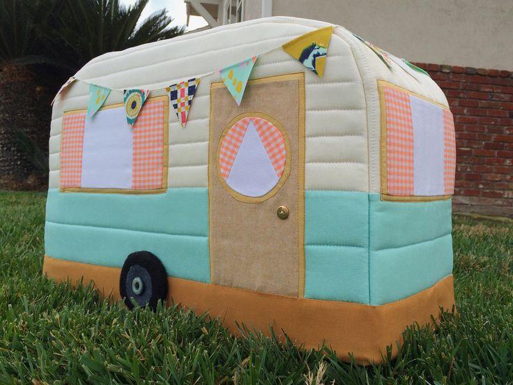 Retro Caravan Sewing Machine Cover ... darling ... tut ... gingerpeachstudio