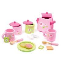 Drewniany zestaw do herbaty dla dzieci