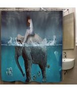 Digital Art Elephants Fish Split Custom Print O... - $35.00 - $41.00