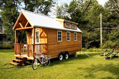 Log Cabin In Wheels Camping Tiny House On Wheels