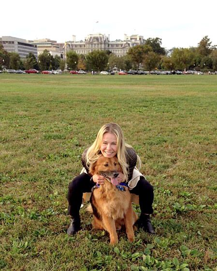 Chelsea Handler She mocks everyone she meets, but Chelsea Handler has plenty of love her dog Chunk. Read more: http://www.usmagazine.com/celebrity-news/pictures/celebs-with-their-pets-20131211/33917#ixzz2kiFsSWDY Follow us: @Us Weekly on Twitter | usweekly on Facebook