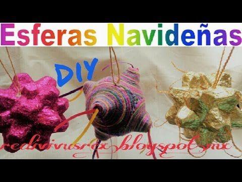 ♻ Cómo hacer esferas navideñas Fáciles /reciclaje creativo