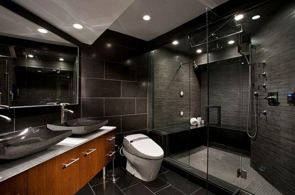 luxus badezimmer granit fliesen einbauleuchten luxurious living pinterest haus. Black Bedroom Furniture Sets. Home Design Ideas