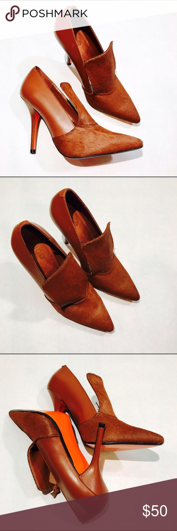 """JOE FRESH LEATHER CALF HEELS #195 JOE Fresh, brown leather heel. CONDITION: NWT 🎁 SHIPS WITHIN 24HRS  HEEL HIGHT: 3.5"""" *All measurements taken while item is laid flat (doubled when necessary) and measured across the front  MATERIAL: Leather INSTAGRAM @ORNAMENTALSTONE 🚫Trading Joe Fresh Shoes Heels"""