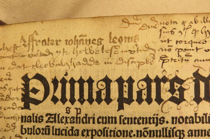 Inc 2. Author: Alexander, de Villa Dei . Title: Grammatica Latina Alexandri. 1497: 1500. Name inscribed on title-page.