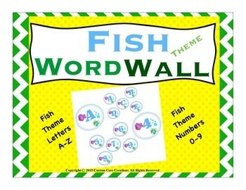$The Fish Theme Word Wall product is a great product to help decorate your room in a fish theme motif.Includes*Fish motif with small letters A-Z 6 sheets*Fish motif with large letters A-Z 26 sheets *Fish motif with large numbers 0-9 10 sheets *Fish motif with small numbers 0-9 3 sheetsPlease follow my store to be the first to know about new products as they are released!Custom Core CreationsNote:This item is a paid digital download.