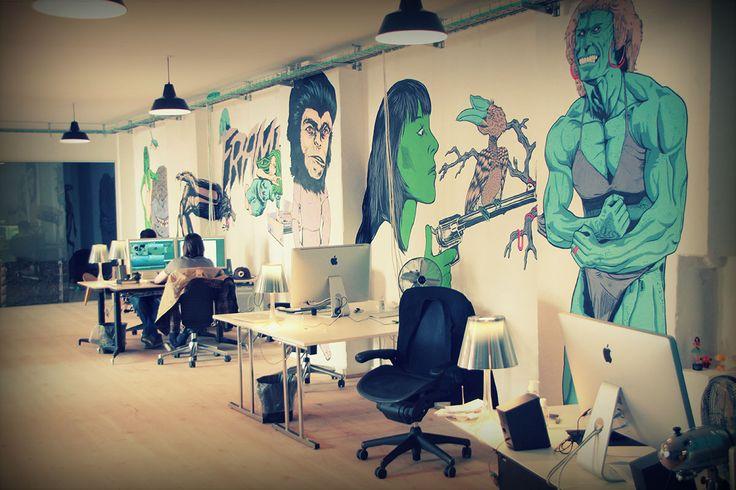 Our colleague Julien, spending some time at Frame Copenhagen.