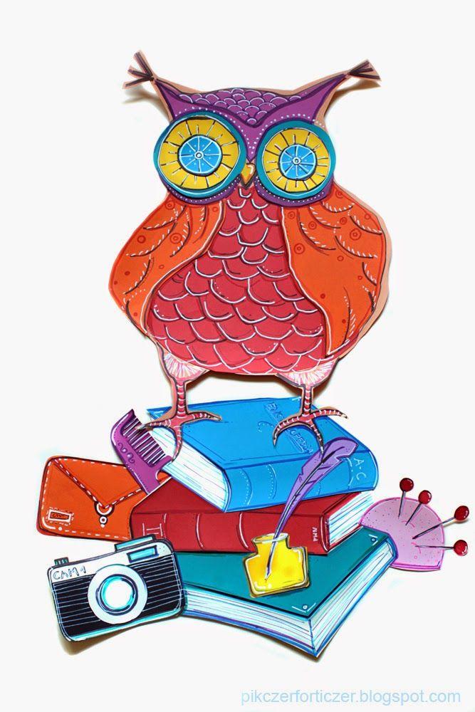 Pikczer For Ticzer: Dzień nauczyciela, owl, sowa, teacher day