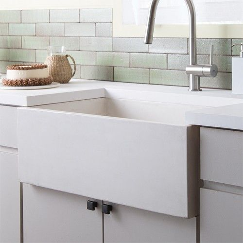 The Farmhouse 3018 Kitchen Sink's creamy texture and commanding presence will heighten the appeal of any modern kitchen. http://www.ybath.com/native-trails-farmhouse-3018-kitchen-sink.html