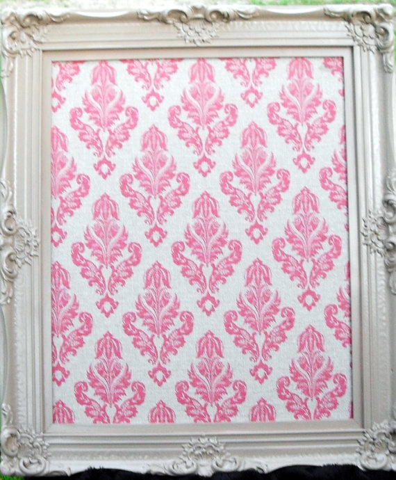 decorative pink damask vintage framed cork board 285 by cdmdesign 7500