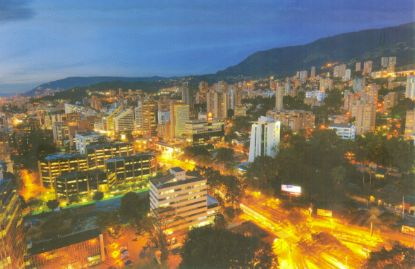 Another skyline photo of Medellin at night....