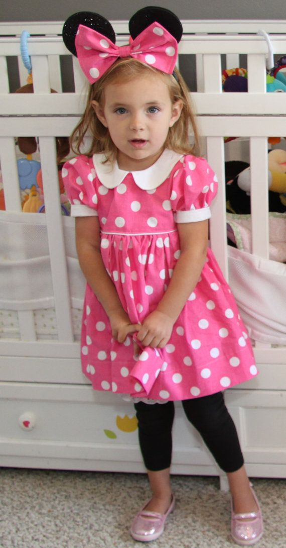Minnie Mouse Costume Dress Includes dress by PiePieDesigns