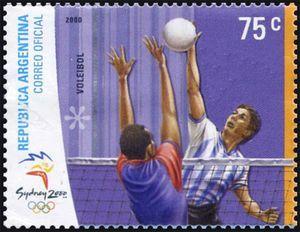 Sello: Volleyball (Argentina) (Olympic Games of Sydney) Mi:AR 2603,Göt:AR 3066,Gz :AR 2535