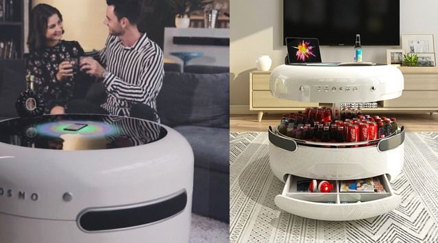 Coosno Smart Coffee Table With Bluetooth Speakers Google