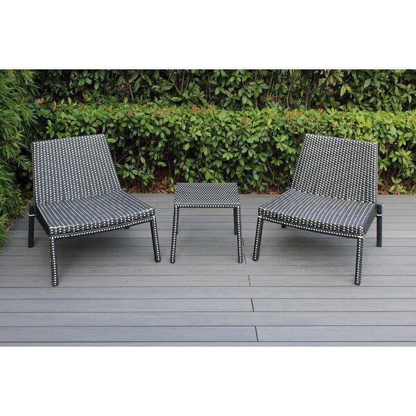 Kiara 3 Piece Rattan Seating Group Wicker Patio Furniture Wicker Patio Furniture Set Seating Groups