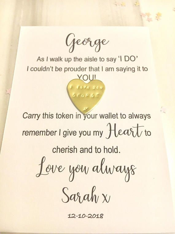 Wedding Gifts For Groom From Bride On Wedding Day: Groom Gift, On Our Wedding Day Gift, Husband To Be Card