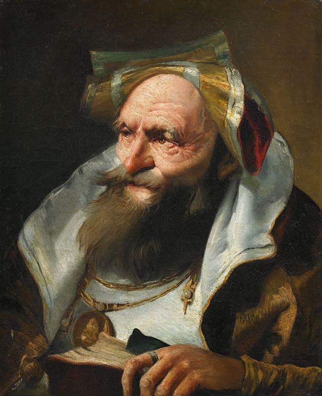 Page: Head of a Scholar  Artist: Giovanni Domenico Tiepolo  Style: Rococo  Genre: portrait  Technique: oil  Material: canvas