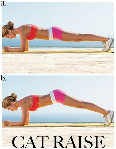 a great ab exercise.  keep the abs tight from start to finish and exhale when you lift your butt.