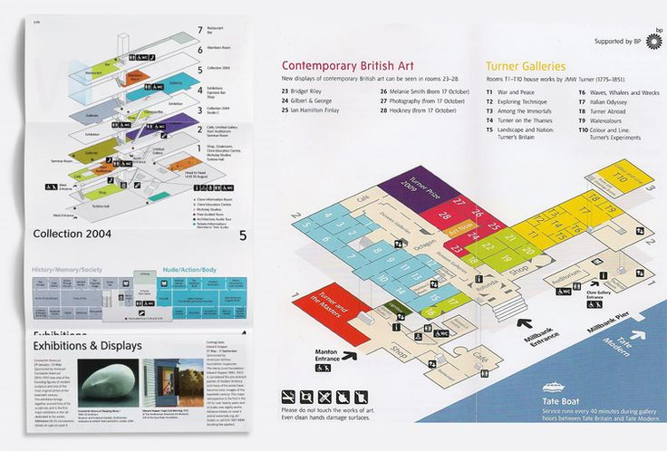The floor-plan maps for the Tate Modern and Tate Britain