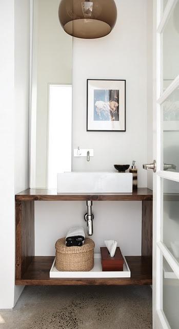 Open bathroom vanity  #bathroom  #vanity for downstairs or kids bath