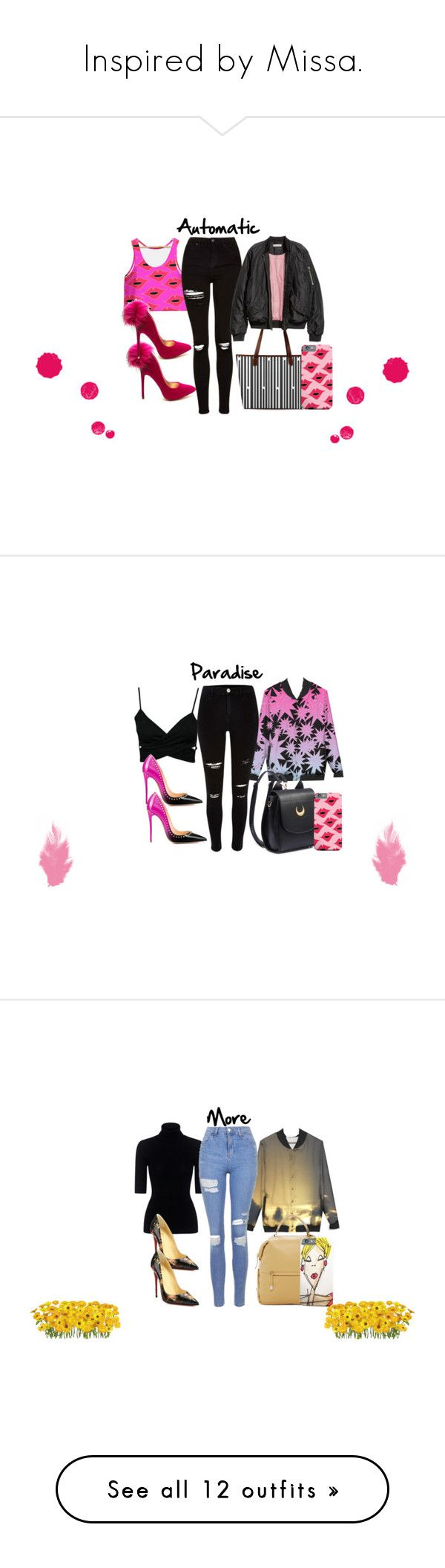 """Inspired by Missa."" by bexijem ❤ liked on Polyvore featuring Topshop, H&M, StreetStyle, casualoutfit, CasualChic, aesthetic, River Island, Theory, Christian Louboutin and Vince Camuto"