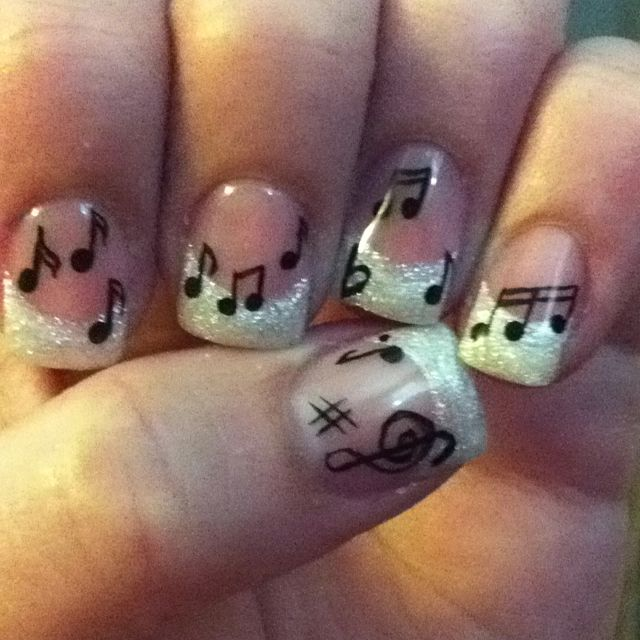 Adorable music inspired nails