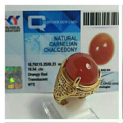 Red Raflesia Bengkulu - Natural Carnelian Chalcedony