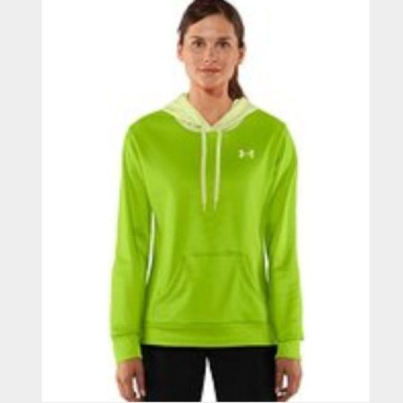 🎅🏻HOLIDAY SALE Lime green Under Armour hoodie Adorable lime green silky Underarmour hoodie!  Perfect condition, hardly worn!  Size small:) Under Armour Tops Sweatshirts & Hoodies