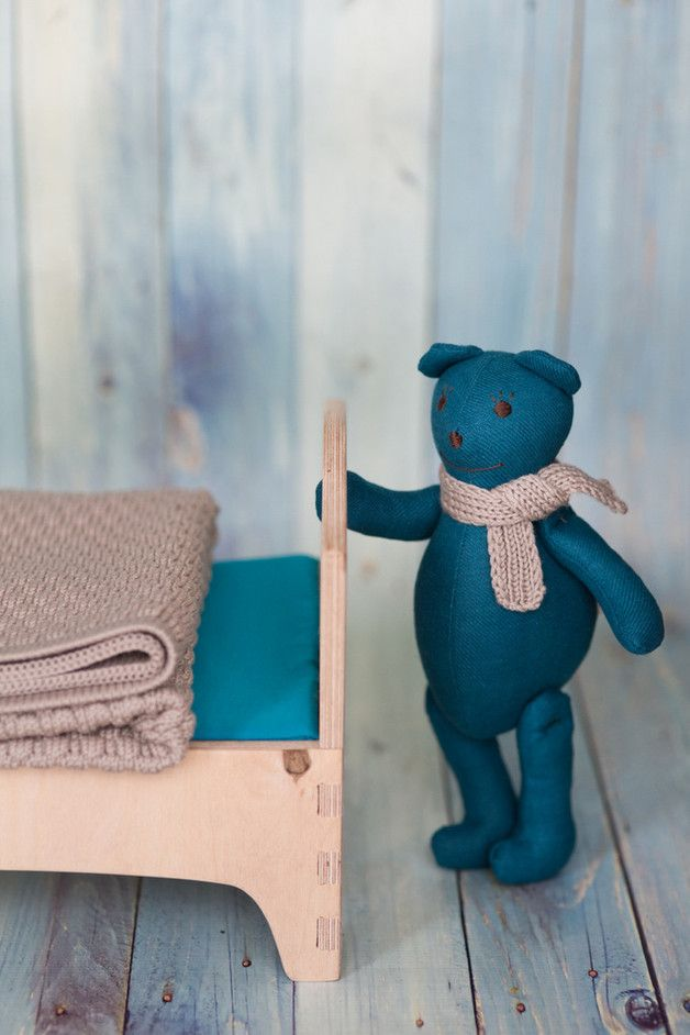 A warm and useful gift set for new parents.  Teddy: Handmade linen toy that is sweet, soft and baby friendly. Made of quality linen. Bow tie is made of leather (it can also can also be linen as...