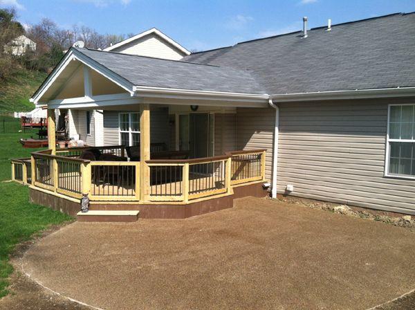 Roof Design Ideas: Roof - Wood Deck & Rails