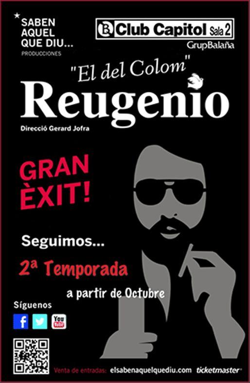 El próximo lunes 7 de octubre, a las 21.00H, empieza la segunda temporada de Reugenio. Con chistes renovados y muchas sorpresas!!