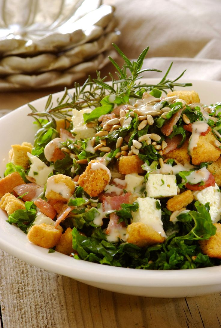 Spinach, Bacon and Feta Salad!