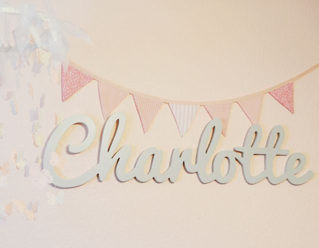 Custom Wooden Name from @The Spotted Zebras - we love the whimsical touch this cursive name art adds to the nursery or kids room!: Baby Names, Custom Wooden, Baby Name Charlotte, Wooden Names, Baby Charlotte, Project Nursery, Spotted Zebras, Baby Nurseries, Charlotte Baby Name