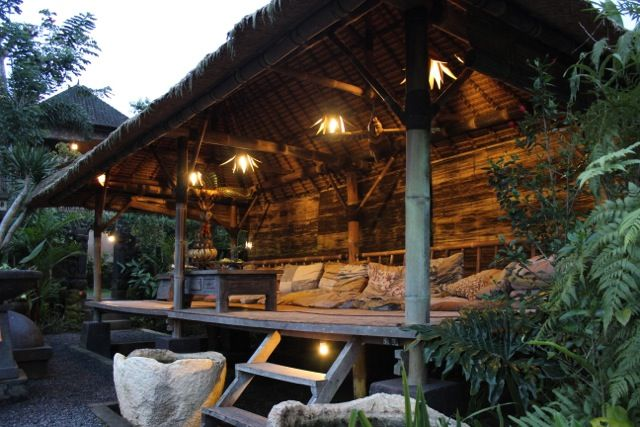 """our """"Bale"""" overlooking the rice paddies... the ideal meeting place for our retreat groups"""