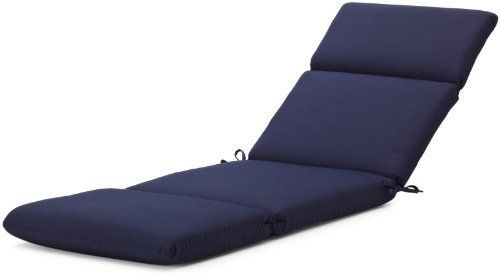 """Strathwood Basics Hardwood Chaise Lounge Sunbrella Cushion, Navy by Strathwood. $99.99. Measures 72"""" L x 22"""" W x 3.5"""" H. Gently spot clean with mild soap and cool water, then air dry. 100-percent-acrylic cover; resists stains and fading in sunlight. Cushion with high-performance outdoor Sunbrella fabric fits Strathwood Basics Hardwood Chaise Lounge, or similarly sized chair. Fabric same on both sides for reversibility; made in the USA of imported materials. Strath..."""