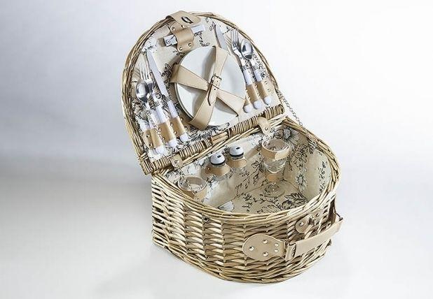 Picknickkoffer - Picknickkorb für 2 Personen