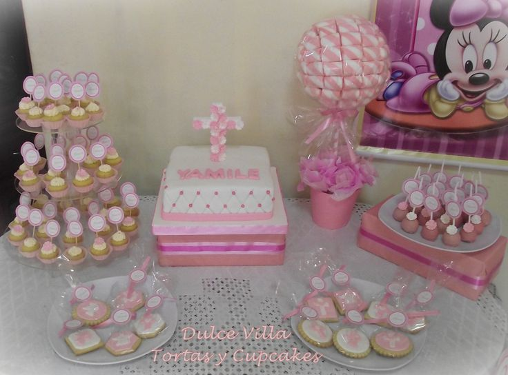 Dulce mesa de Bautismo by Dulce Villa #cakes #cupcakes #tortas #sugarcraft #fondant #baptism #sweet #sugar #decorating #decoration #cute #cookie #sugarart #bakery