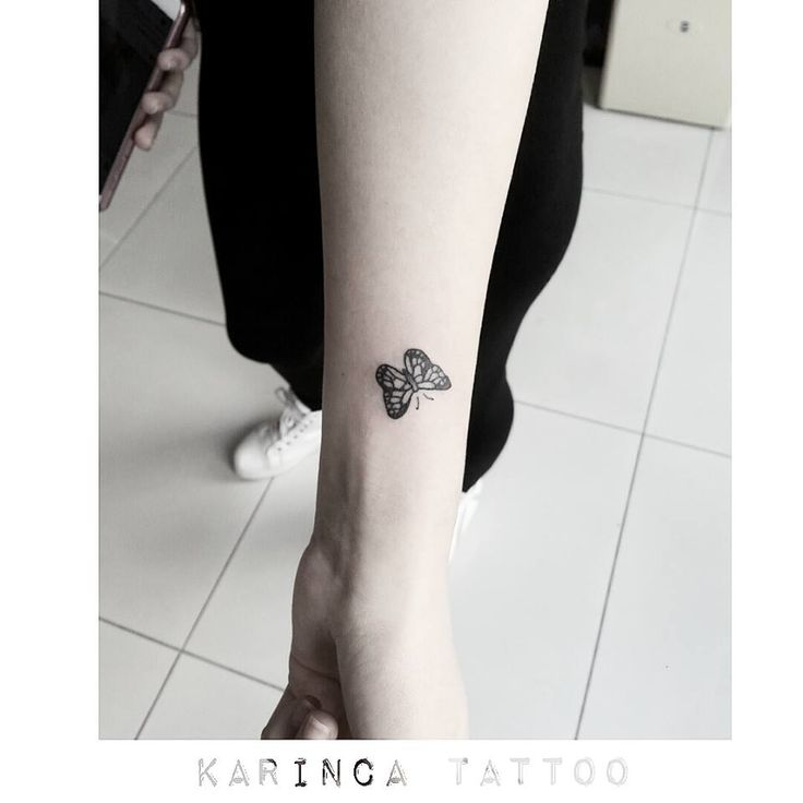 Minimal Butterfly Tattoo on the wrist…