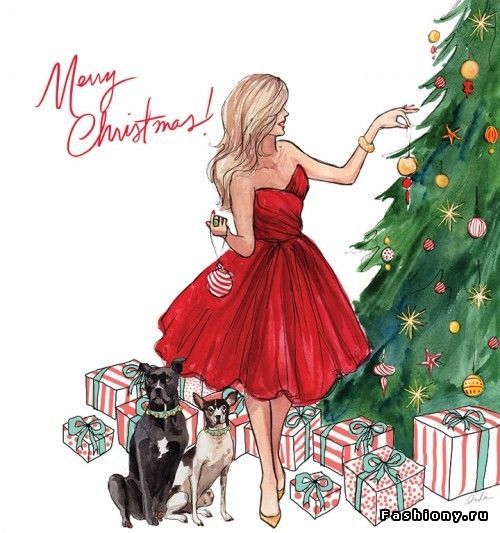 Love this drawing... would LOVE to personalize these for people one year! Merry Christmas! Inslee Haynes - one of my favorite artists: