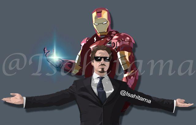 Photoshop CC  Iron man & Tony Stark