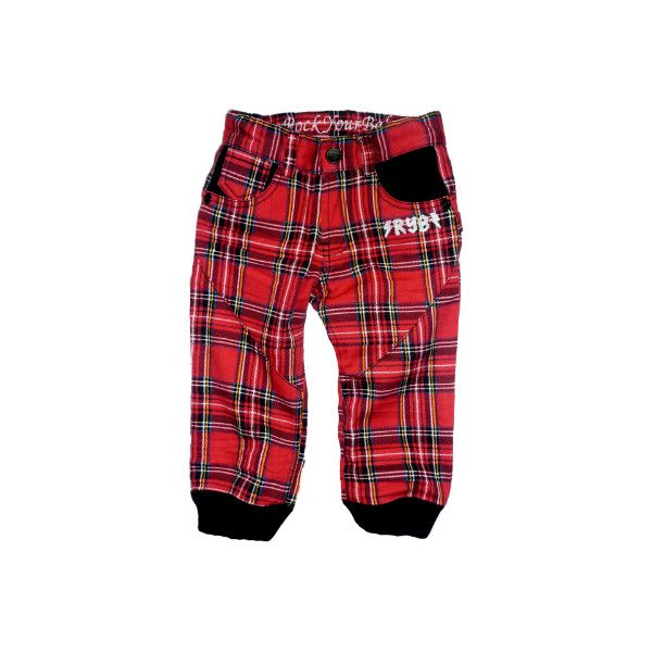 Rock Your Baby Sk8 Pants - Punk Tartan | baby & kids clothes... - Polyvore