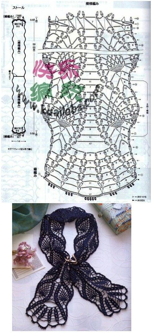 sweet crochet - lacy pineapple scarf check out the way you work this pattern, very cool