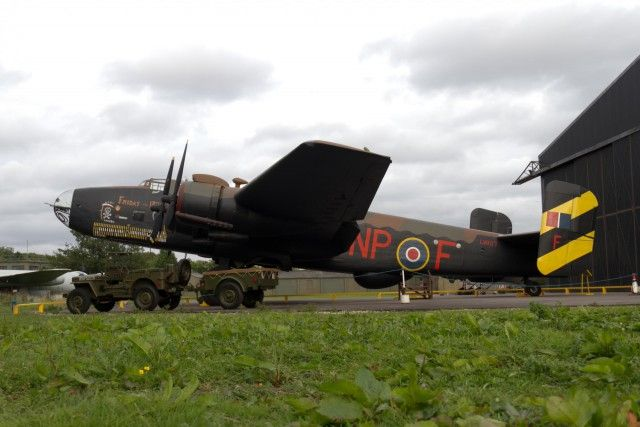 New on War History Online: Handley Page Halifax III Bomber one-off night display at the Yorkshire Air Museum http://wrhstol.com/1wDrHwn