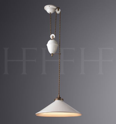 French Ceramic Rise & Fall, with weights hector finch made to order