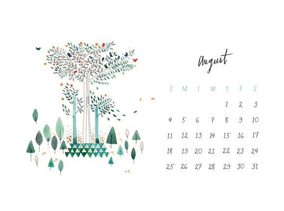 August Calendar & Seasonal Produce